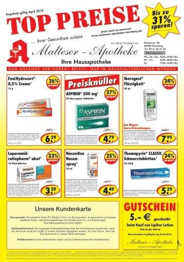 Malteser Apotheke Nürnberg Angebote im April