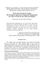 Ocean and Coastal Governance The European Approach to ...