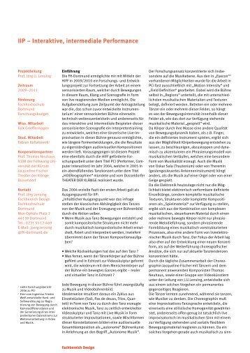 IIP – Interaktive, intermediale Performance - Fachhochschule ...