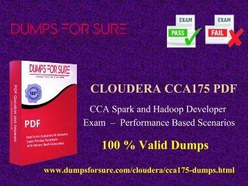 Cloudera CCA175 PDF braindumps