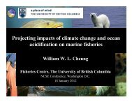 Projecting impacts of climate change and ocean ... - Compass