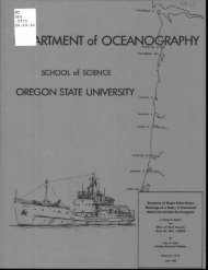 kRTMENT of OCEANO RAPHY - ScholarsArchive at Oregon State ...