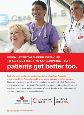 patients get better too. - American Heart Association