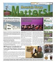 Mountain House Matters - March/Early April 2018