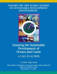 'CochairsReport.pdf' in a - Global Forum on Oceans, Coasts and ...