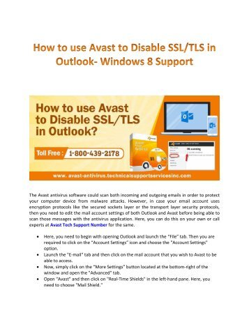 Use Avast to Disable SSL TIS in Outlook