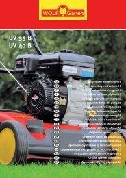 UV 35 B UV 40 B UV 35 B UV 40 B - WOLF-Garten CN
