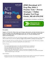 ACT Prep Plus at MHS