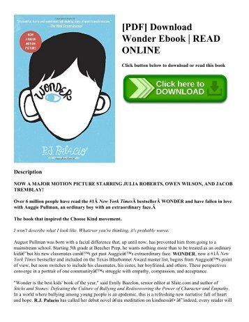[PDF] Download Wonder Ebook | READ ONLINE