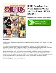 [PDF] Download One Piece: Baroque Works 16-17-18 Ebook | READ ONLINE