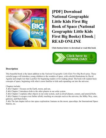 [PDF] Download National Geographic Little Kids First Big Book of Space (National Geographic Little Kids First Big Books) Ebook | READ ONLINE