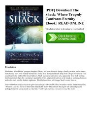 [PDF] Download The Shack: Where Tragedy Confronts Eternity Ebook   READ ONLINE