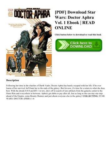 [PDF] Download Star Wars: Doctor Aphra Vol. 1 Ebook | READ ONLINE