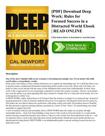 Pdf download driven to distraction revised recognizing and pdf download deep work rules for focused success in a distracted world ebook fandeluxe Choice Image