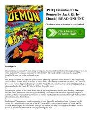 [PDF] Download The Demon by Jack Kirby Ebook   READ ONLINE