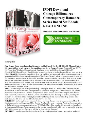 [PDF] Download Chicago Billionaires - Contemporary Romance Series Boxed Set Ebook | READ ONLINE