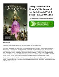 [PDF] Download Jim Henson's The Power of the Dark Crystal Vol. 1 Ebook | READ ONLINE