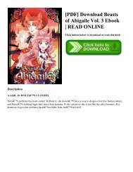 [PDF] Download Beasts of Abigaile Vol. 3 Ebook | READ ONLINE