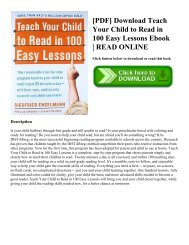 [PDF] Download Teach Your Child to Read in 100 Easy Lessons Ebook   READ ONLINE