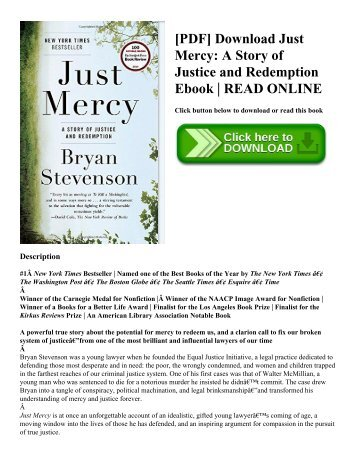 [PDF] Download Just Mercy: A Story of Justice and Redemption Ebook | READ ONLINE