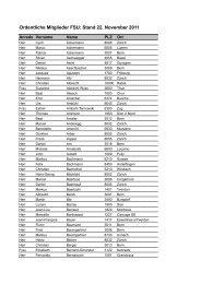 Mitgliederverzeichnis (Stand November 2011) - FSU