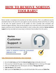 How to Remove Norton Toolbars