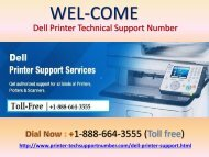 Dell printer customer Care Number +1-888-664-3555