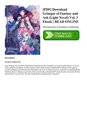 [PDF] Download Grimgar of Fantasy and Ash (Light Novel) Vol. 3 Ebook | READ ONLINE