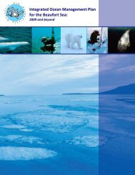 Integrated Ocean Management Plan for the Beaufort Sea: