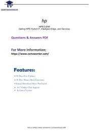 HPE2-E69  Dumps with Real PDF Questions Answers 2018