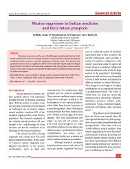 General Article Marine organisms in Indian medicine and their future ...