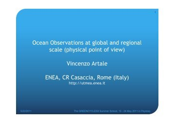 Ocean Observations at global and regional scale - Potsdam Institute ...