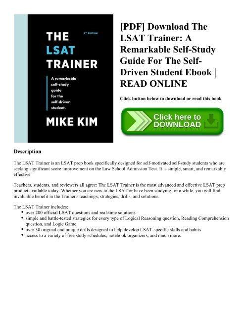 Lsat free the pdf trainer Download PDF: