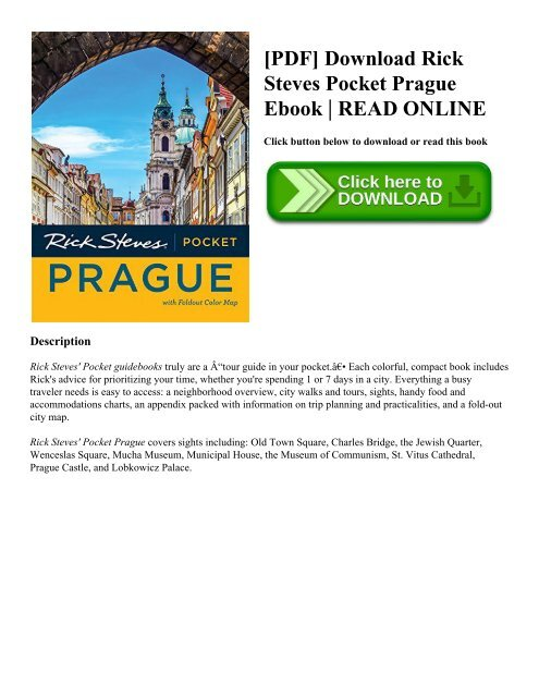 Pdf Rick Steves Pocket Prague Ebook Read Online