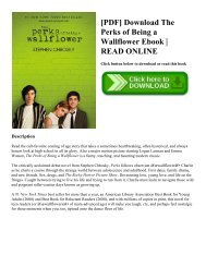Ebook The Perks Of Being A Wallflower Bahasa Indonesia