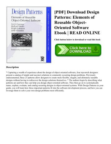 [PDF] Download Design Patterns: Elements of Reusable Object-Oriented Software Ebook | READ ONLINE