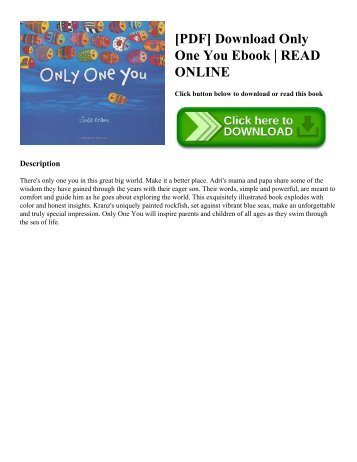 [PDF] Download Only One You Ebook | READ ONLINE