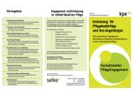 Flyer der Berliner Kontaktstellen PflegeEngagement