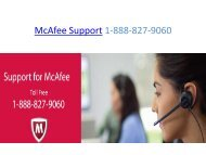 McAfee Support 1-888-827-9060