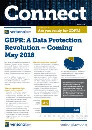 Connect | Spring 2018 | Are you ready for GDPR?