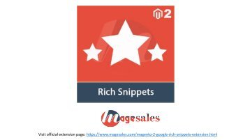 Magento 2 Google Rich Snippets