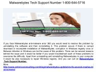 Malwarebytes Contact Support Number  1-800-644-5716