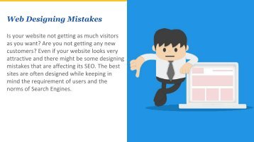 Web Designing Mistakes that affect your SEO