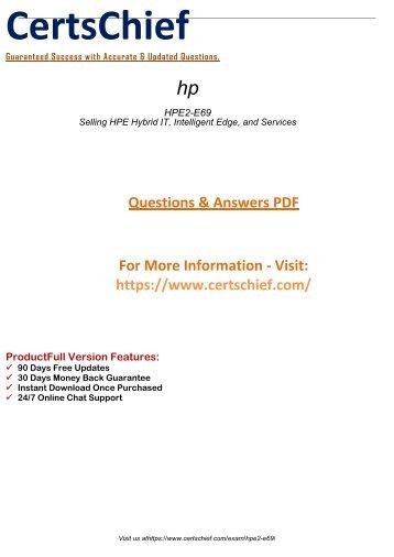 HPE2-E69 Free Demo Practice 2018