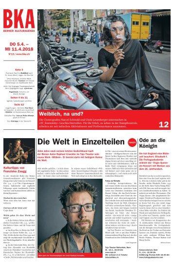 Berner Kulturagenda 2018 N° 13