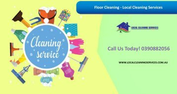 Floor Cleaning - Local Cleaning Services