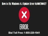 Fix Windows 8.1 Update Error 0x80070002 Dial 1-800-220-1041