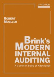brink's modern internal auditing 7th edition