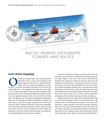 Arctic Marine Geography, Climate and Sea Ice - Institute of Northern ...