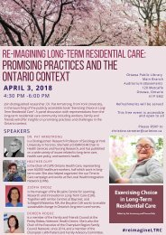 April 3 - Exercising Choice in Long-Term Residential Care